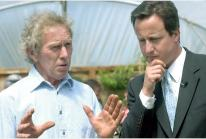 Paul Eustice with David Cameron in 2009